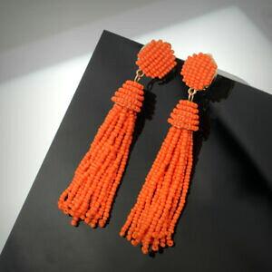 【送料無料】ジュエリー・アクセサリー イヤリングクリップオンノーパーシーミニパールポンポンオレンジエスニックboucles doreilles clip on non percee mini perle pompon orange ethnique qd2