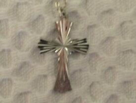 【送料無料】ジュエリー・アクセサリー ヴィンテージシルバークロスオンファインチェーンインチvintage silver cross on fine chain 18 inches 44cm
