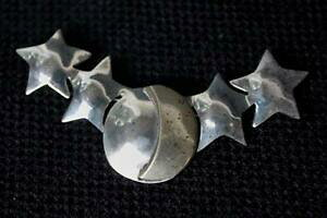 【送料無料】ジュエリー・アクセサリー ヴィンテージメキシコスターリングルナスターズフォームピンブローチvintage firmato 925 mexico ts39 sterling luna stars forma pin brooch1086g
