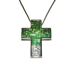 【送料無料】ジュエリー・アクセサリー キャンディブリンググリーンホワイトクリスタルスターリングシルバークロスチェーン£candy bling verdebianco cristallo amp; sterling silver cross amp; catena prezzo co