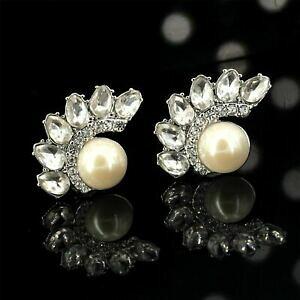 【送料無料】ジュエリー・アクセサリー ゴールドクラスゴールドメッキパールオンパールクリップオンイヤリングorecchini grandi clip on perle pearl placcato oro class yd