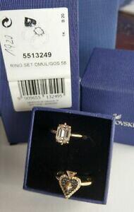 【送料無料】ジュエリー・アクセサリー スワロフスキーリングセットサイズブランドswarovski anello 2er set dmulgos misura 58 nuovo ovp mib brand 5513249