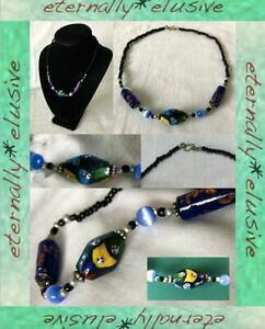 【送料無料】ジュエリー・アクセサリー ムリーナヴェネツィアナゴールドアベンチュリンガラストレードビーズアンティークヴィンテージネックレスmurrina veneziana oro aventurine glass trade beads col