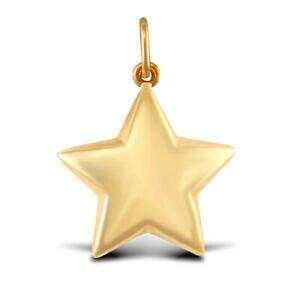 【送料無料】ジュエリー・アクセサリー ウーマンゴールドイエローペンダントチャームスターdonna 9ct oro giallo pendente charm stella