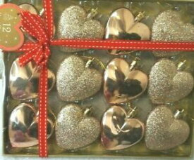 【送料無料】ジュエリー・アクセサリー ハートクリスマスグリッターグロストリニンスパックnuova confezione da 12 a forma di cuore natale glitter gloss ninnolirameh6xw6xd2 cm