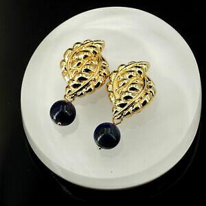 【送料無料】ジュエリー・アクセサリー ブークルドオリユクリップオンドレパールラピスラズリレトロヴィンテージアンシアンboucles doreilles clip on dore perle lapis lazuli retro vintage ancien b4