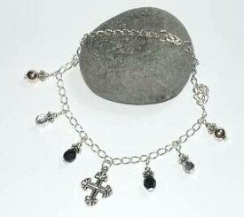 【送料無料】ジュエリー・アクセサリー チベットシルバークロスビーズドロップアンクレットgraziosa cavigliera con tibetan silver cross amp; bead drops