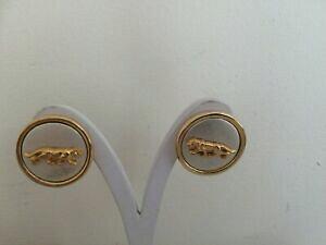 【送料無料】ジュエリー・アクセサリー ヴィンテージイエローメタルパンサークリップオンイヤリングvintage yellow metal panther clip on earrings