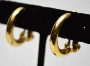 【送料無料】ジュエリー・アクセサリー ヴィンテージゴールドシェードポリッシュハーフサークルクリップオンシェイプイヤリングtonalita oro vintage lucidato mezzo cerchio forma clipon orecchini