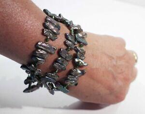 【送料無料】ジュエリー・アクセサリー シーシェルパールブレスレットiridescente mare conchiglia madreperla braccialetto