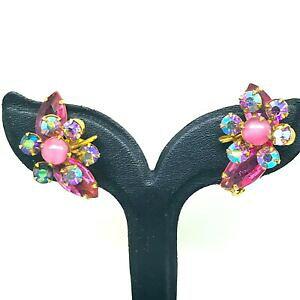【送料無料】ジュエリー・アクセサリー ラブリークリスタルローズフラワーハイエンドクリップオンイヤリングlovely rosa cristallo ab fiore high end clip on orecchini