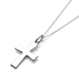 【送料無料】ジュエリー・アクセサリー スターリングシルバークロスネックレスネックレスインチsterling silver cross collana collana 14 32 pollicicrocifisso