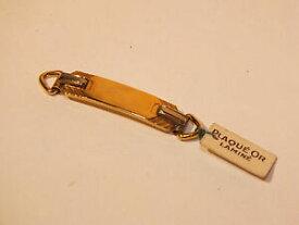 【送料無料】ジュエリー・アクセサリー プラークドブレスレットダンファンプラケノングラヴェアベックエチケットplaque de bracelet denfant plaque or non grave avec etiquette