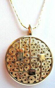 【送料無料】ジュエリー・アクセサリー ペンデンティフモネシェーヌプラケメダイヨンアジュレビジューヴィンテージpendentif monet chaine plaque or medaillon finement ajoure bijou vintage 1563