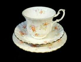 【送料無料】キッチン用品・食器・調理器具・陶器 美しいロイヤルアルバートピーチローズトリオBeautiful Royal Albert Peach Rose Trio