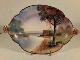 【送料無料】キッチン用品・食器・調理器具・陶器 アンティーク日本モリエゲジュジュエルドサービングボウル年代初頭手塗装Antique Nippon Moriage Jeweled Serving Bowl Early 1900's Hand painted