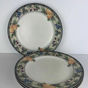 【送料無料】キッチン用品・食器・調理器具・陶器 三笠凹版ガーデンハーベストディナープレートのロットLot Of 4 Mikasa Intaglio Garden Harvest CAC29 Dinner Plate(s)11