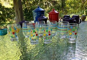 【送料無料】キッチン用品・食器・調理器具・陶器 セットフィエスタガラスウェアオンスステムレスワインティーグラスストライプジュースドットset 8 FIESTA glassware 15 oz STEMLESS WINE tea glass ST