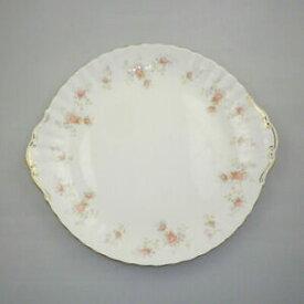 【送料無料】キッチン用品・食器・調理器具・陶器 ヴィンテージロイヤルアルバート中国ラージ処理ケーキプレートピーチローズVintage Royal Albert China Large Handled Cake Plate Peach Rose