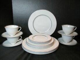 【送料無料】キッチン用品・食器・調理器具・陶器 ロイヤル・ドートン・アルジェンタ個入りホワイトプラチナ・ヴェルジュ・トリム・クラシックRoyal Doulton Argenta 20 Pieces White 2 Platinum Verge Trim Classic