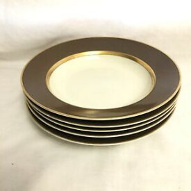 【送料無料】キッチン用品・食器・調理器具・陶器 フィッツフロイドブラウン、ゴールド、ホワイトルネッサンススープボウルのセットSet of 5 Fitz & Floyd Brown, Gold, and White Renaissance Soup Bowl