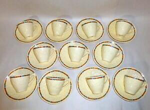 【送料無料】キッチン用品・食器・調理器具・陶器 アンティーク年代クラウン・デュカル・イングランド・ゲインズバラエンボスド・チャーム・ティーカッププレートAntique 1920's Crown Ducal E