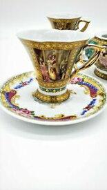 【送料無料】キッチン用品・食器・調理器具・陶器 レアデポスリモージュバッカス磁器カップソーサーティーセット個セットVTG Rare Depos T Limoges Bacchus Porcelain Cup n Saucer 24K Tea Set of 9 Pieces