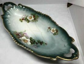 【送料無料】キッチン用品・食器・調理器具・陶器 アンティークヴィンテージオブロングサービングディッシュ花はチッピングを持っていますAntique Vintage Oblong Serving Dish 9 Floral Has Chipping