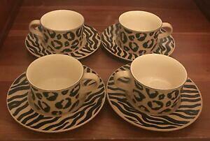 【送料無料】キッチン用品・食器・調理器具・陶器 ミカサジャングルチャームカップとソーサーセット4 Sets Mikasa Jungle Charm Cups and Saucers