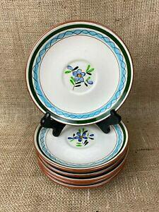 【送料無料】キッチン用品・食器・調理器具・陶器 スタングルソーサー前菜プレートカントリーガーデンパターンのセットSet of 6 Stangl Saucer Appetizer Plates Country Garden Pattern