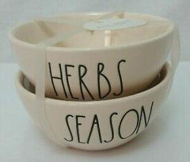 【送料無料】キッチン用品・食器・調理器具・陶器 レイダンアリスタンコレクションボウルハーブとシーズンRae Dunn Aristan Collection 2 Bowls Herbs and Season