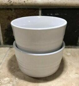 【送料無料】キッチン用品・食器・調理器具・陶器 セットホワイトルクルーゼストラージラメキンズプリスティンストーンウェアSet of 2 White LE CREUSET Large Ramekins EUC *Pristine* Stoneware