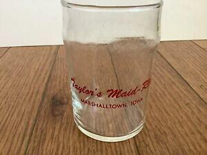 """【送料無料】キッチン用品・食器・調理器具・陶器 ヴィンテージテイラーのメイドライトジュースグラスレトロダイナーVintage Taylor's Maid-Rite Juice Glass Retro Diner 4"""""""