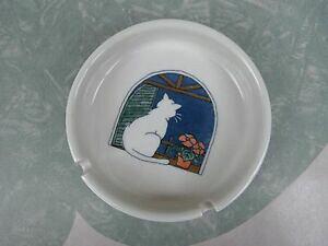 【送料無料】キッチン用品・食器・調理器具・陶器 ヴィンテージおたつり猫灰皿手作りストーンウェア日本Vintage Otagiri Cat Ashtray Hand Crafted Stoneware Japan