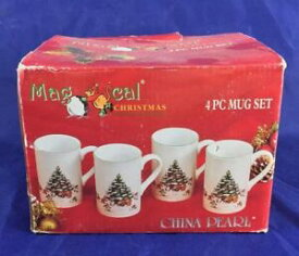 【送料無料】キッチン用品・食器・調理器具・陶器 魔法のクリスマスマグカップはオリジナルボックスでのセット。MAGICAL CHRISTMAS Mugs Set of 4 In Original Box.