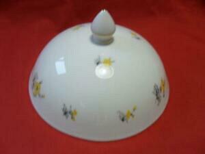 【送料無料】キッチン用品・食器・調理器具・陶器 シェリーチャーム、イエローレアマフィンディッシュ蓋付きShelley CHARM, (Yellow) (RARE) Muffin Dish Lidded