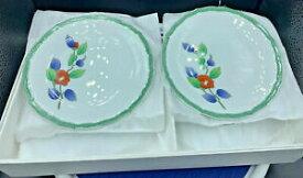 【送料無料】キッチン用品・食器・調理器具・陶器 ボックスボックスで新しいヴィンテージ中国プレート花のデザインのセットは、棚の摩耗を持っていますSet Of 6 Vintage 6 China Plates Floral Design New in Box Box has shelf wear