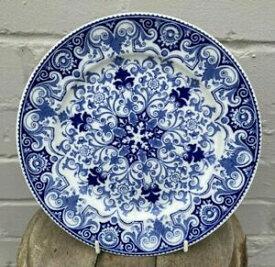 【送料無料】キッチン用品・食器・調理器具・陶器 アンティークウェッジウッドブルーホワイトルーアンパターンディスプレイプレートデザートプレートAntique Wedgewood Blue & White Rouen Pattern Display Plate Dessert Plate