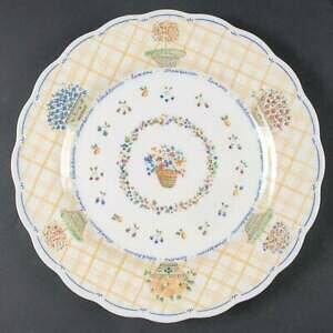 【送料無料】キッチン用品・食器・調理器具・陶器 日光デナのガーデンイエローディナープレートNikko DENA'S GARDEN Yellow Dinner Plate 9041768