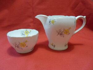 【送料無料】キッチン用品・食器・調理器具・陶器 シェリーチャーム、イエローミルクジャグシュガーボウルShelley CHARM, (Yellow) (RARE) Milk Jug  Sugar Bowl