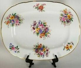 【送料無料】キッチン用品・食器・調理器具・陶器 コールポートフレグランスはスカロップオーバルサービングプラッターCoalport #9054 Fragrance Not Raised Scalloped Oval Serving Platter 12 3/4