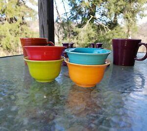 【送料無料】キッチン用品・食器・調理器具・陶器 セットブイヨンみかんターコイズの緋色のレモングラスフィエスタSet 4 BOUILLON tangerine turquoise scarlet lemongrass FIESTA 6 3/4 OZ NEW