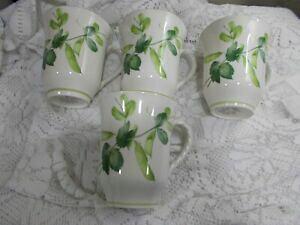 【送料無料】キッチン用品・食器・調理器具・陶器 三笠カントリーチャーム緑化マグカップカップのロットMikasa Country Charm GREENERY - Lot of 4 Mugs / Cups