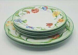 【送料無料】キッチン用品・食器・調理器具・陶器 コベントリーシークレットガーデン磁器ディナーサラダプレートのロットLot of 6 Coventry (PTS) SECRET GARDEN Porcelain Dinner  Salad Plates