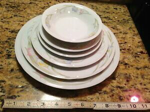 【送料無料】キッチン用品・食器・調理器具・陶器 「フレンチガーデン」ファイン磁器中国セット、プレート、ソーサー、ボウルFrench Garden fine porcelain china 6 pc set, Plates,Saucers,bowl