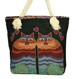 【送料無料】ロープハンドルキャンバストートショッピングビーチカラフルツインバッグrope handle canvas toteshoppingbeach colourful twin cat bag 7264921