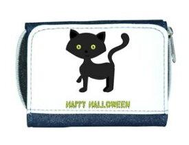 【送料無料】猫 ネコ キャット バッグ 小物 カスタムパーソナライズハッピーハロウィンレディースcat one custom personalised happy halloween ladies purse blue