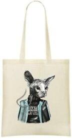 【送料無料】ジョブカスタムプリントトートバッグsphynx cat i hate my job custom printed tote bag 100 soft cotton