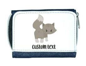 【送料無料】猫 ネコ キャット バッグ 小物 カスタムテキストレディースcat 5 personalised custom with any text cute statement ladies purse blue
