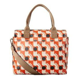 【送料無料】ポピープリントメッセンジャーパーシモンオレンジショルダーバッグハンドバッグorla kiely poppy cat print zip messenger persimmon orange shoulder bag handbag